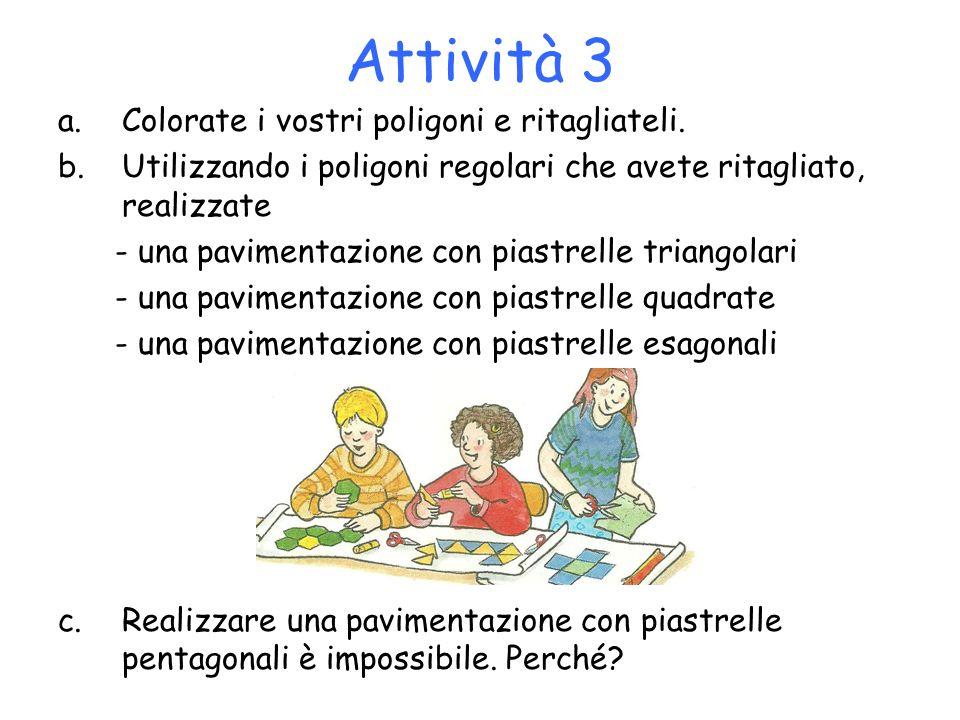 Attività 3 Colorate i vostri poligoni e ritagliateli.