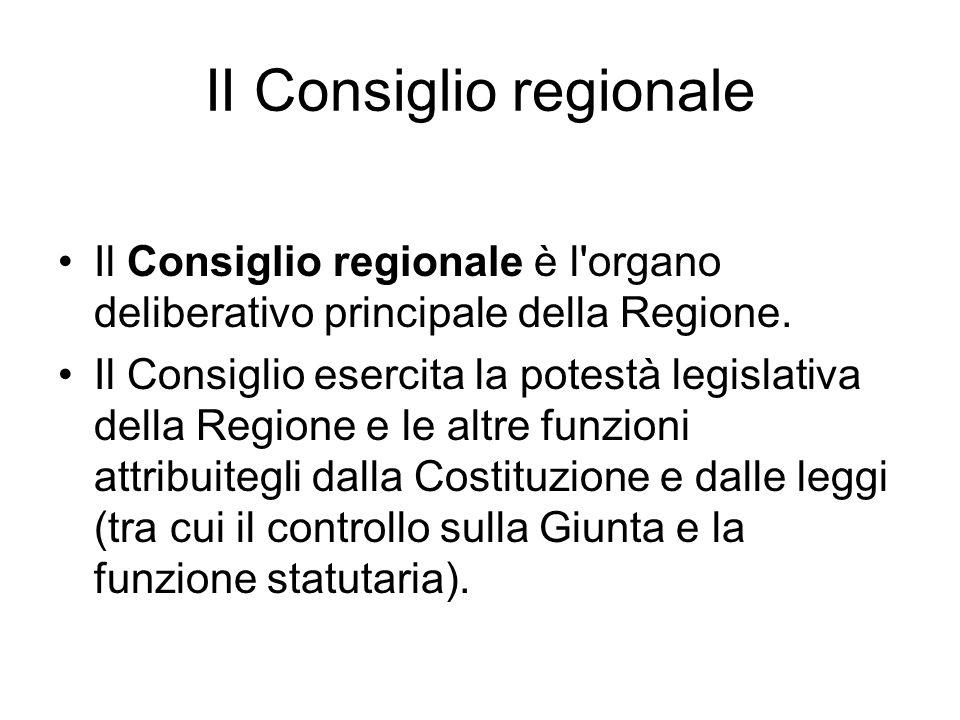 II Consiglio regionale