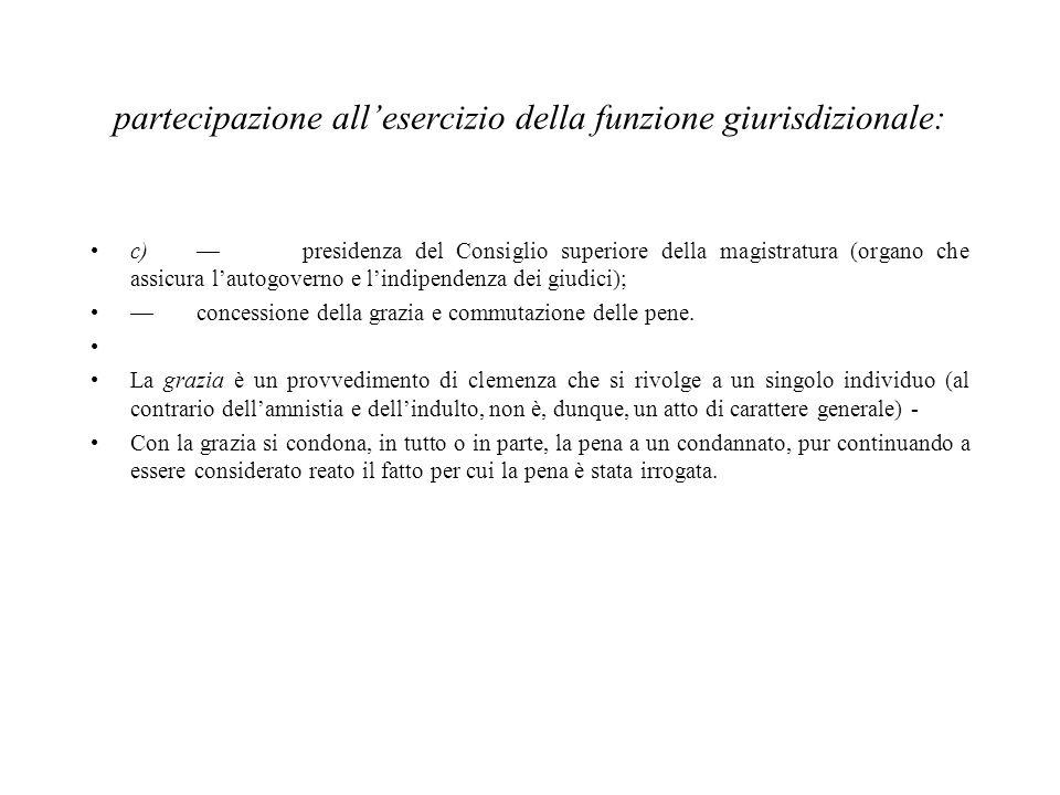 partecipazione all'esercizio della funzione giurisdizionale: