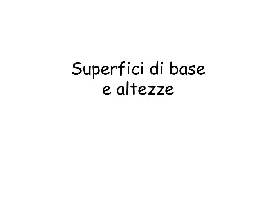 Superfici di base e altezze