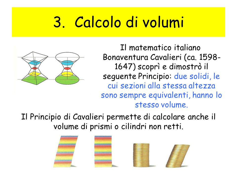 Calcolo di volumi