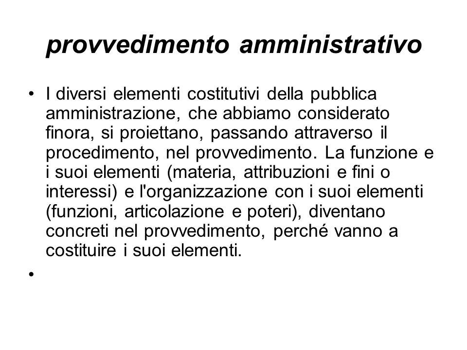 provvedimento amministrativo