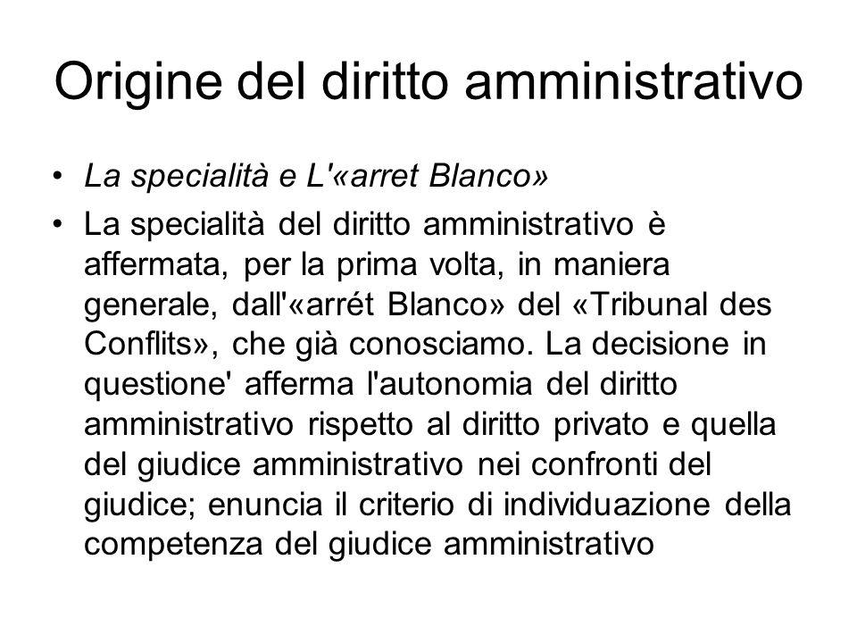 Origine del diritto amministrativo