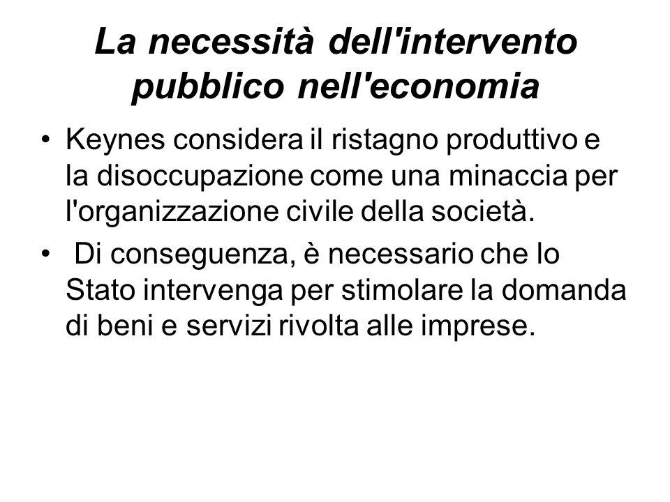 La necessità dell intervento pubblico nell economia
