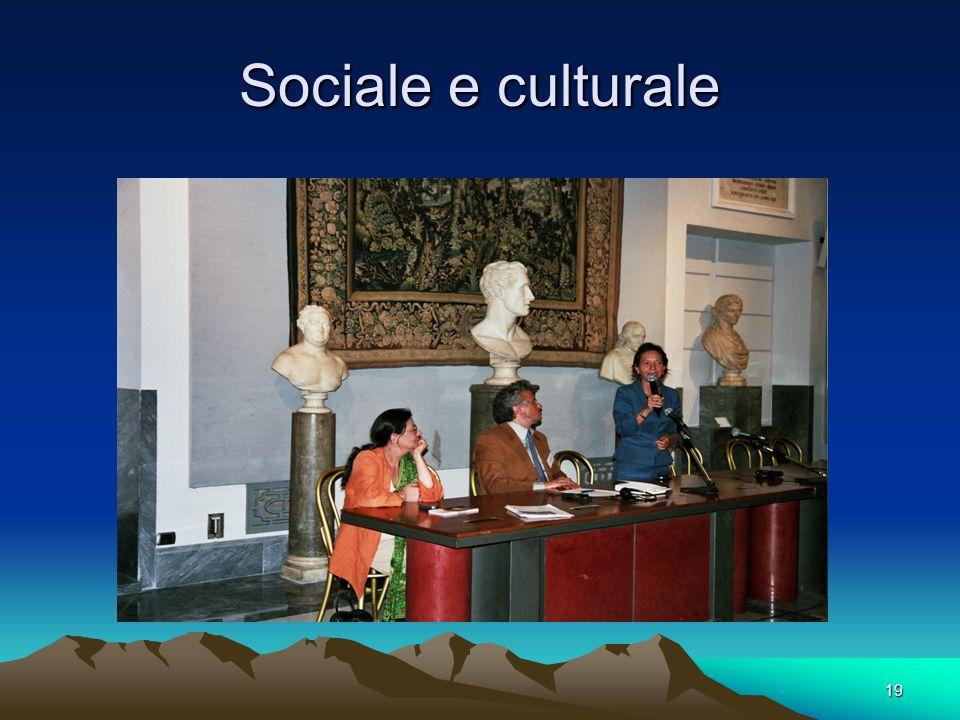 Sociale e culturale