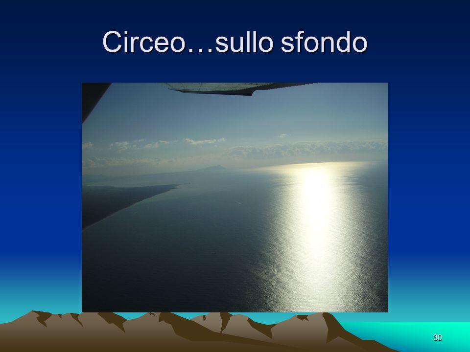 Circeo…sullo sfondo