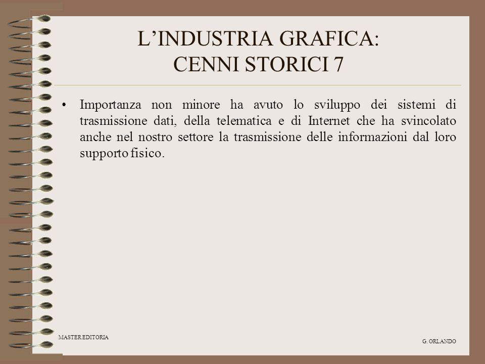 L'INDUSTRIA GRAFICA: CENNI STORICI 7