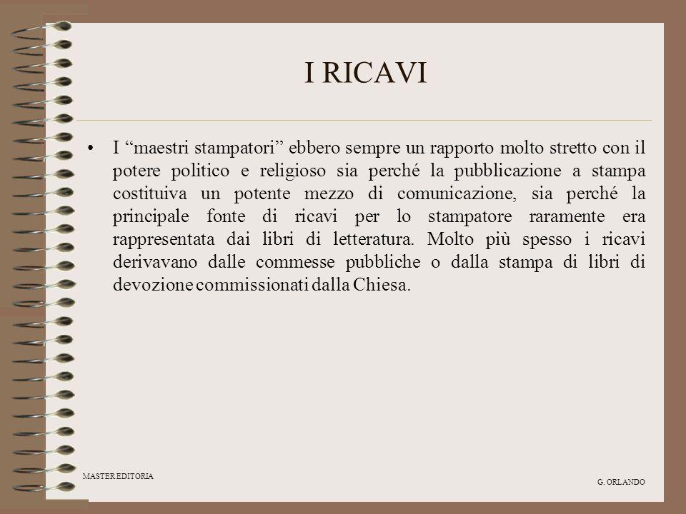 I RICAVI