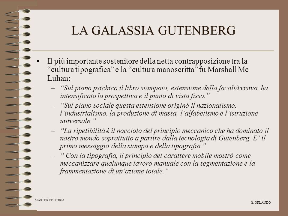 LA GALASSIA GUTENBERG