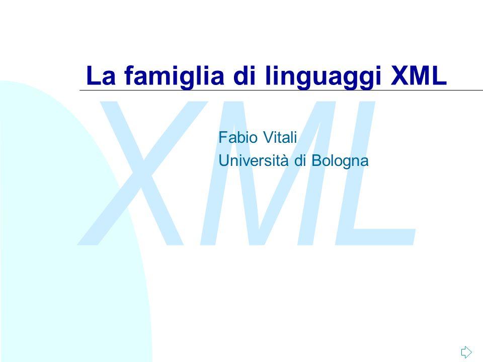 La famiglia di linguaggi XML
