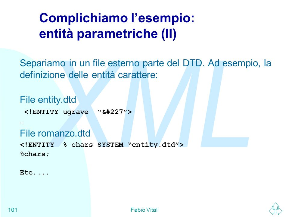 Complichiamo l'esempio: entità parametriche (II)