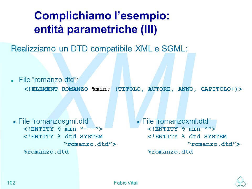 Complichiamo l'esempio: entità parametriche (III)