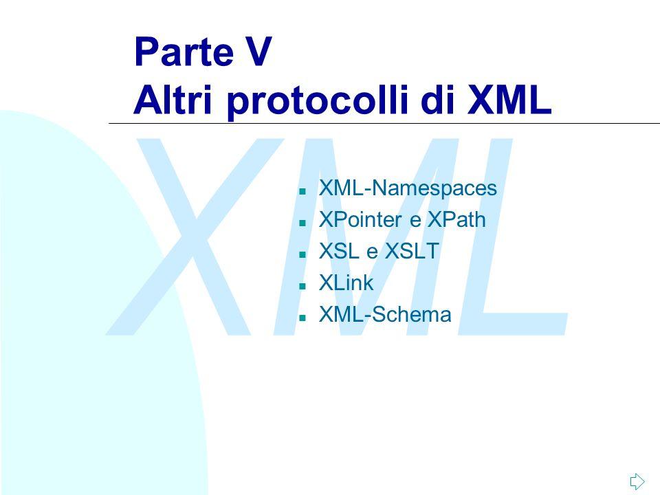Parte V Altri protocolli di XML