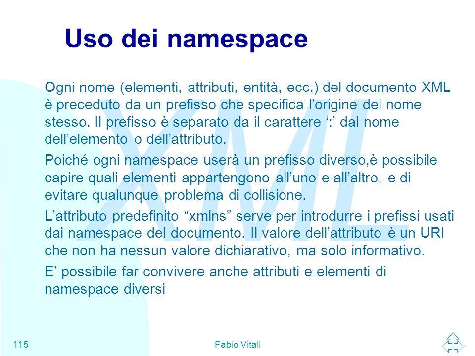 Uso dei namespace