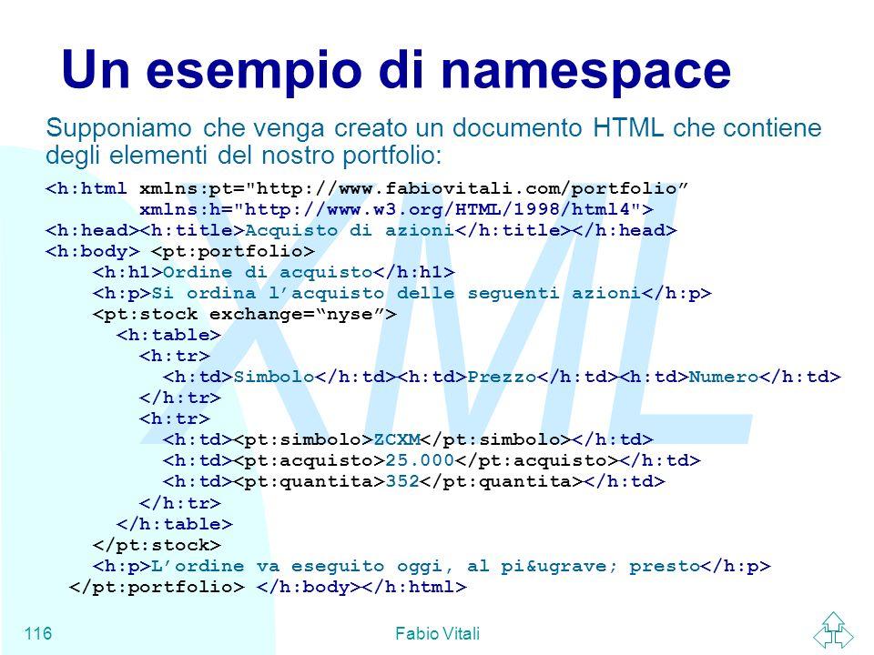 Un esempio di namespace