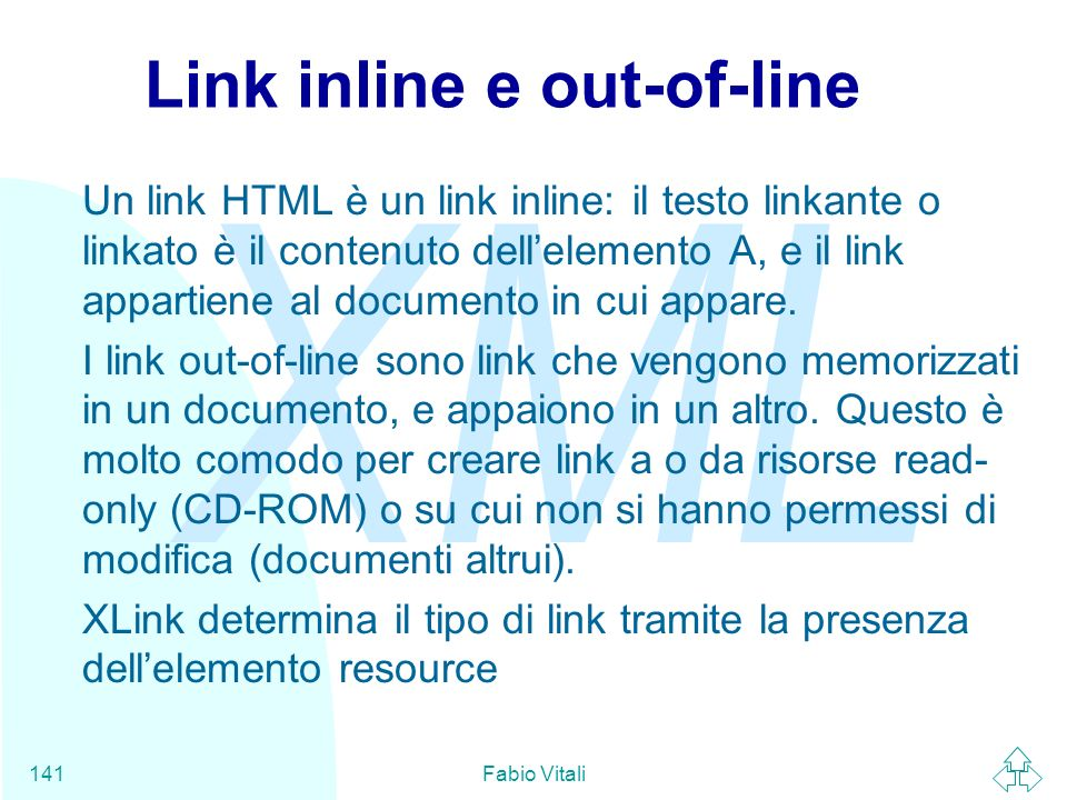 Link inline e out-of-line