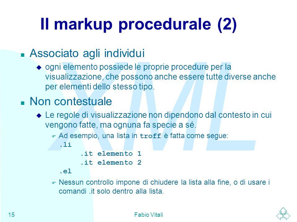 Il markup procedurale (2)
