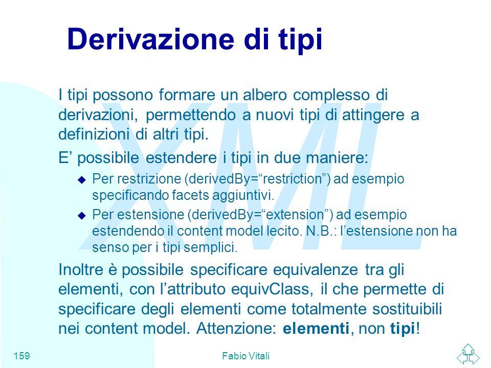 Derivazione di tipiI tipi possono formare un albero complesso di derivazioni, permettendo a nuovi tipi di attingere a definizioni di altri tipi.