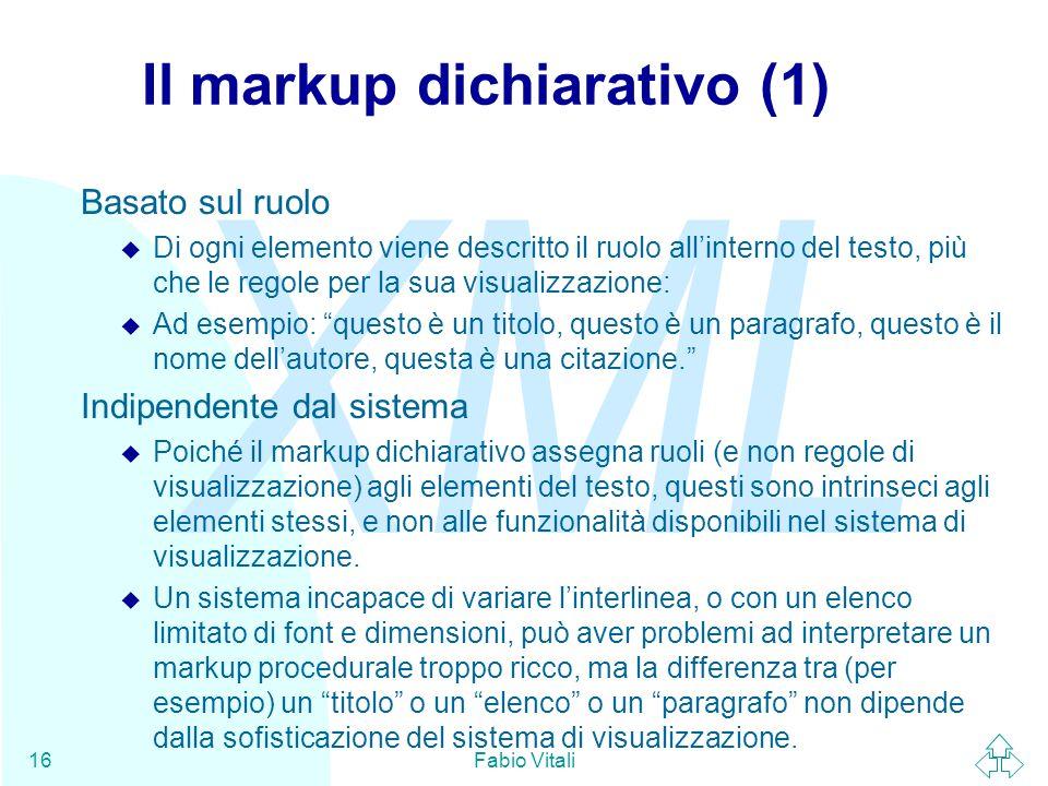 Il markup dichiarativo (1)