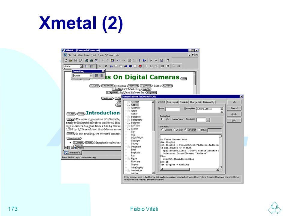 Xmetal (2) Fabio Vitali