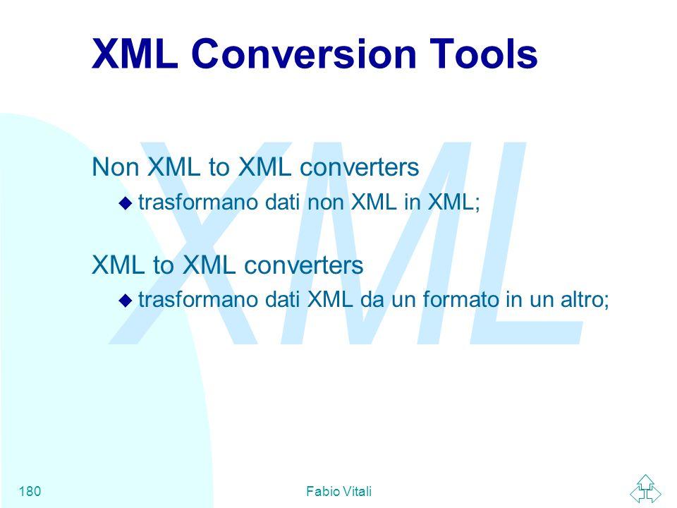 XML Conversion Tools Non XML to XML converters XML to XML converters