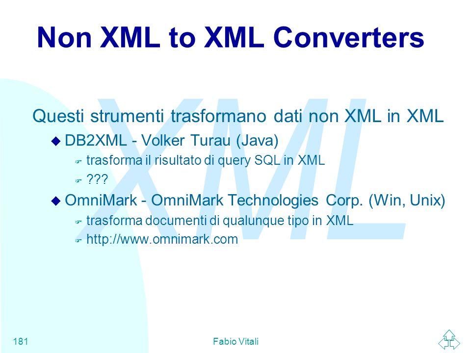 Non XML to XML Converters