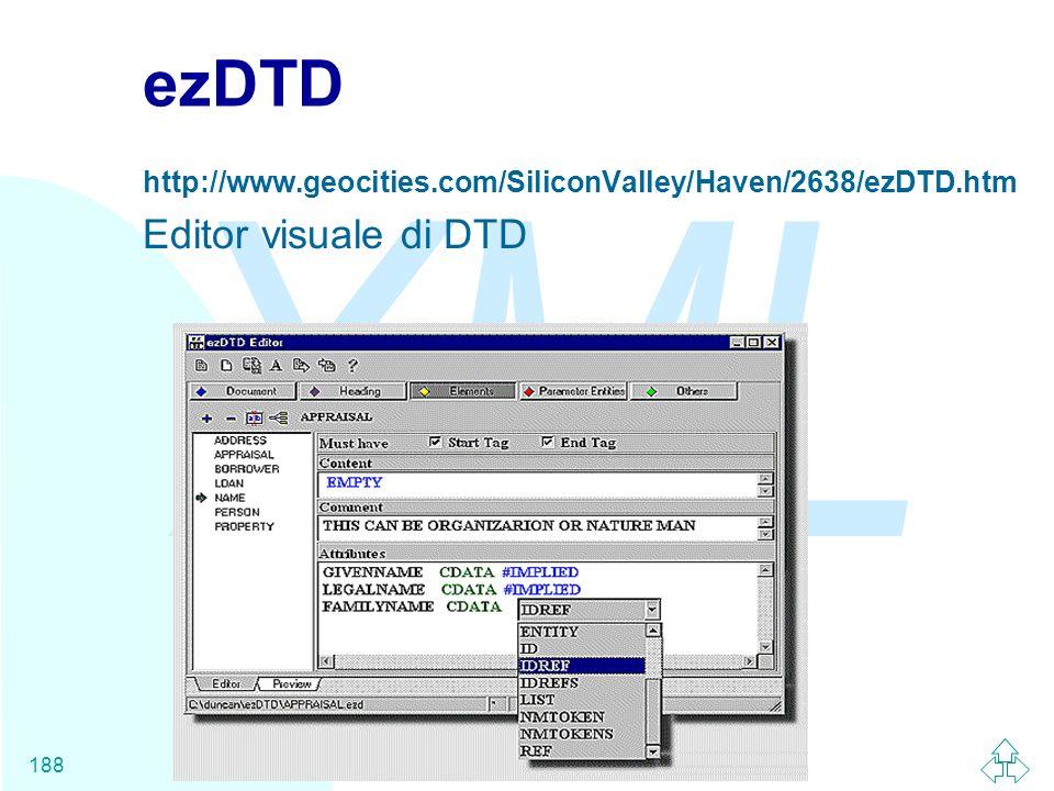 ezDTD Editor visuale di DTD