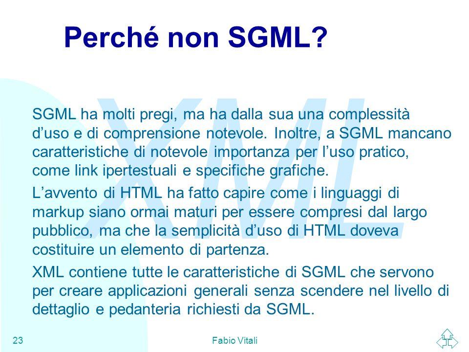 Perché non SGML