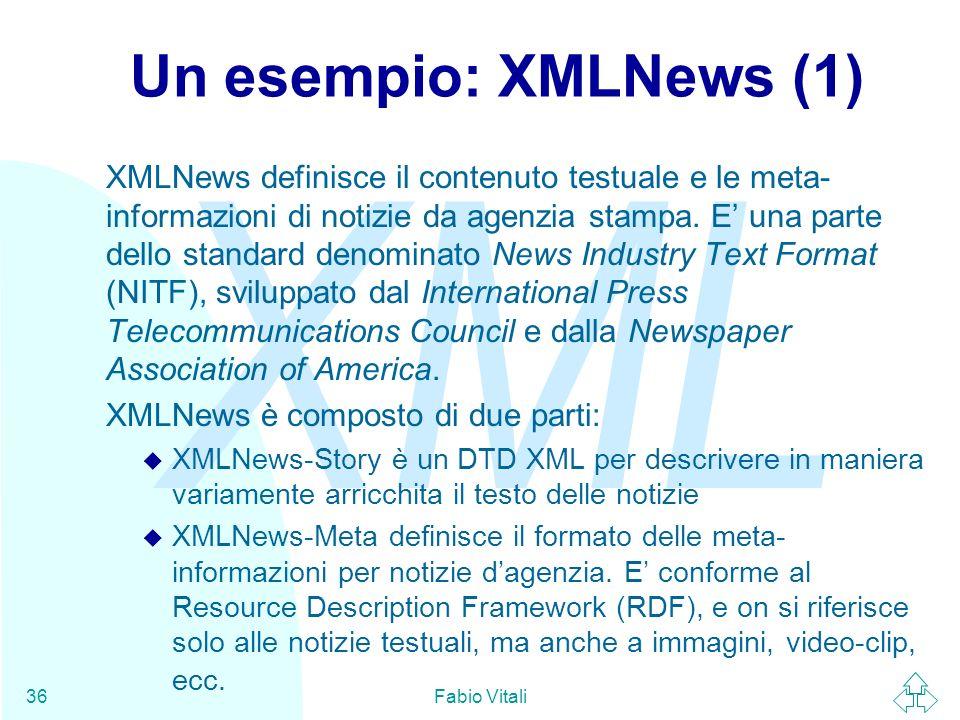 Un esempio: XMLNews (1)