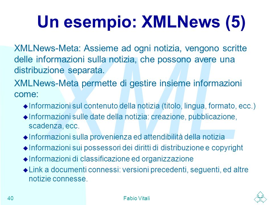 Un esempio: XMLNews (5)