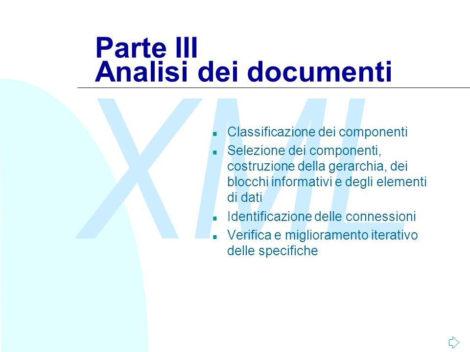 Parte III Analisi dei documenti