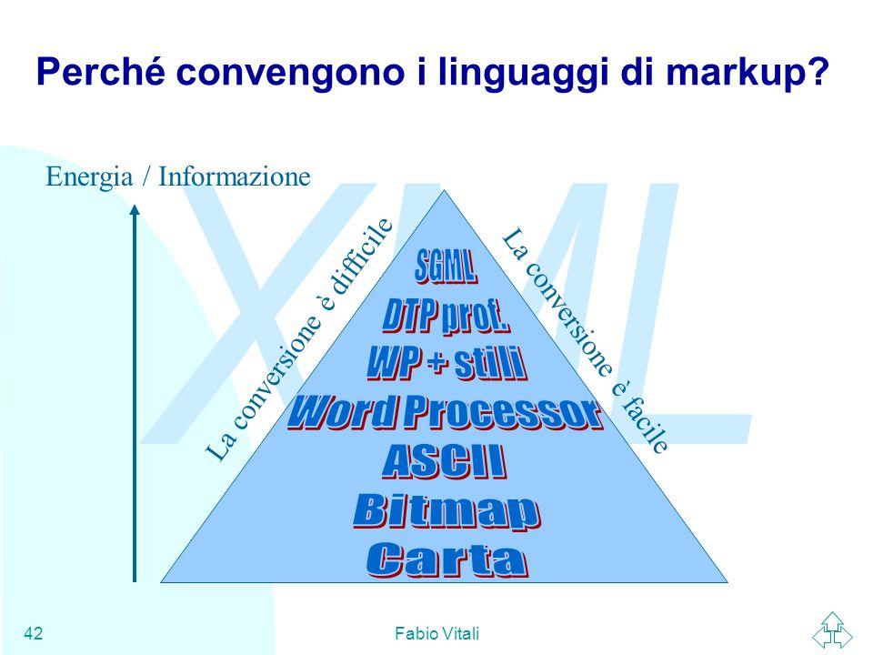 Perché convengono i linguaggi di markup