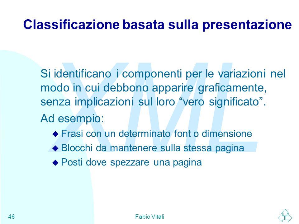 Classificazione basata sulla presentazione