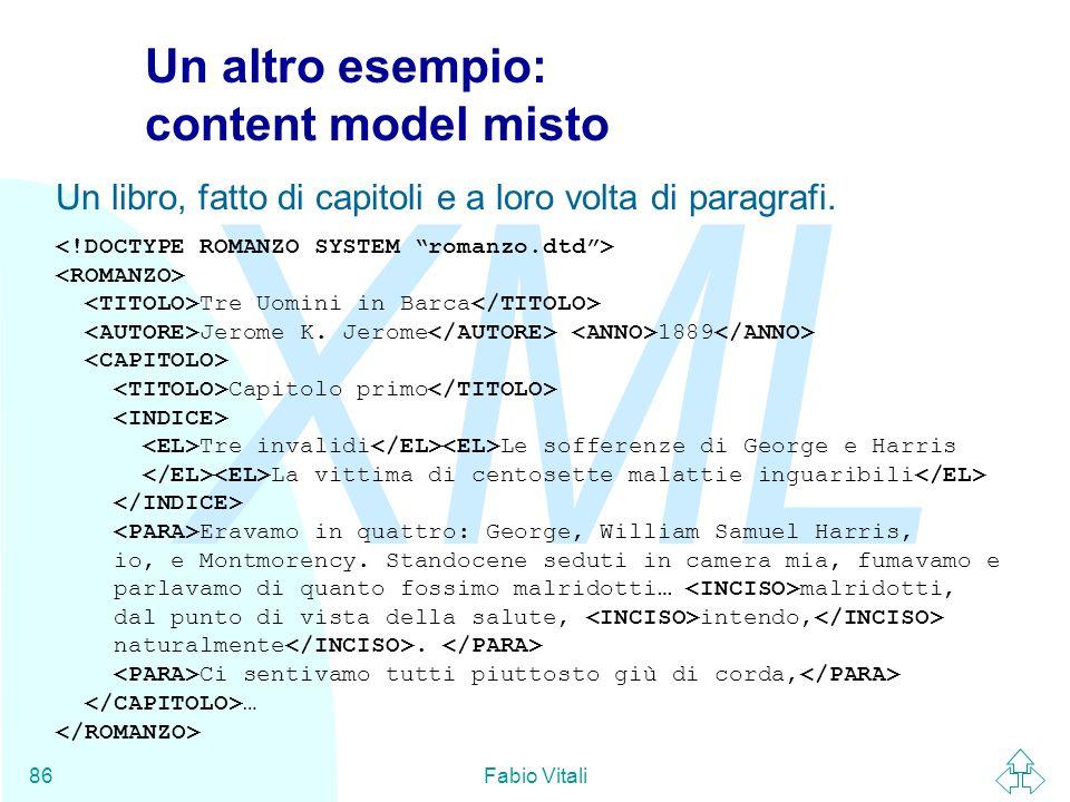 Un altro esempio: content model misto