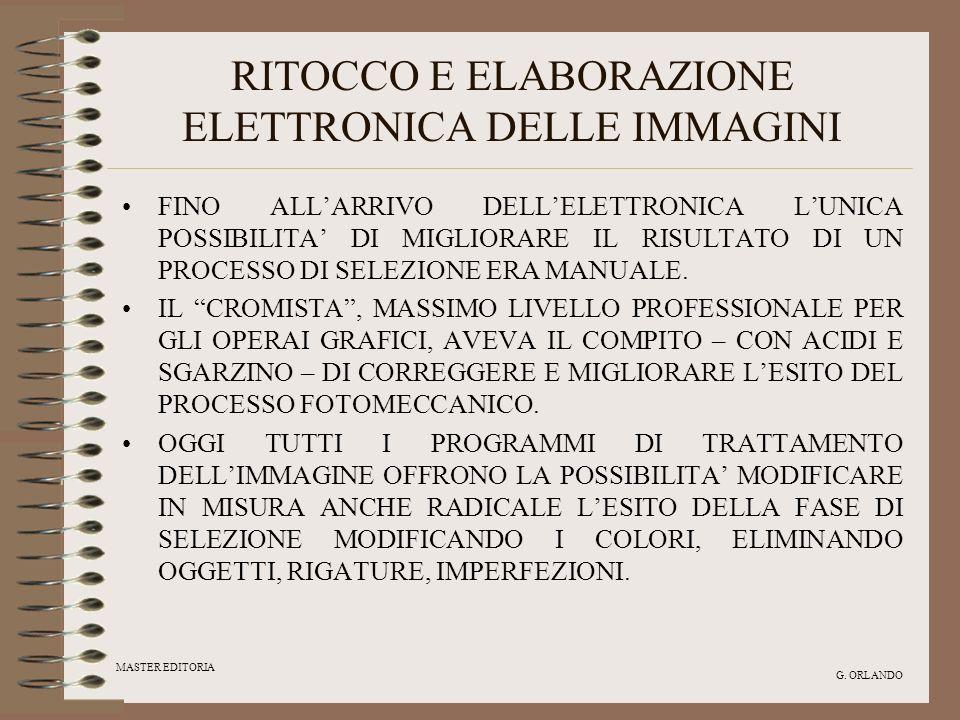 RITOCCO E ELABORAZIONE ELETTRONICA DELLE IMMAGINI