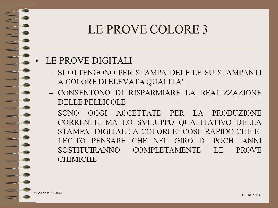 LE PROVE COLORE 3 LE PROVE DIGITALI