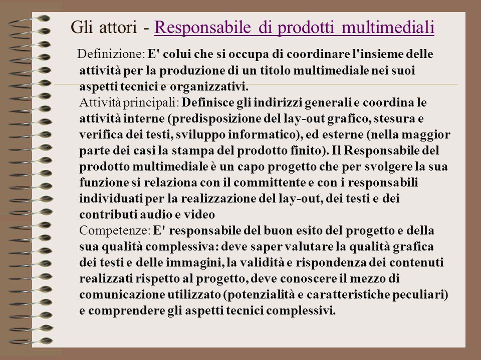 Gli attori - Responsabile di prodotti multimediali