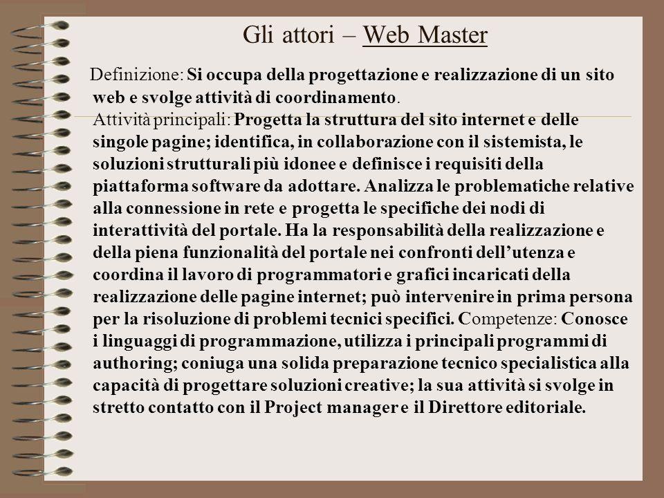 Gli attori – Web Master