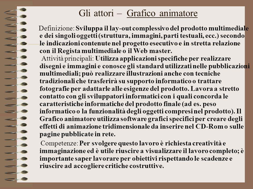 Gli attori – Grafico animatore