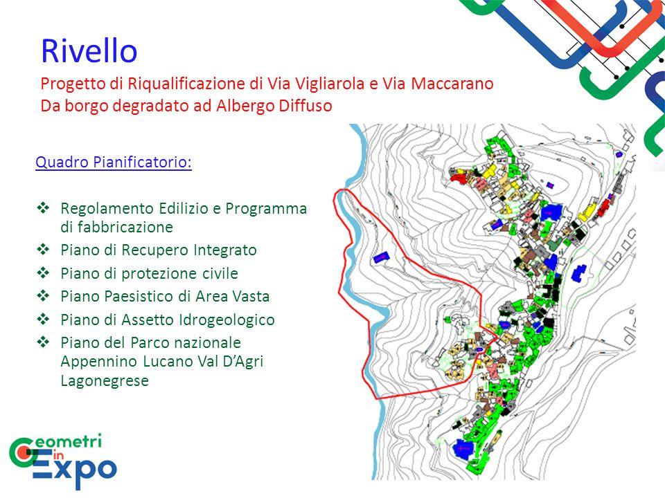 Rivello Progetto di Riqualificazione di Via Vigliarola e Via Maccarano Da borgo degradato ad Albergo Diffuso