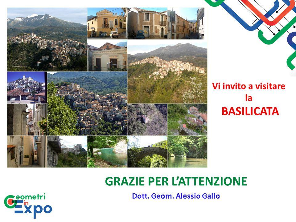 GRAZIE PER L'ATTENZIONE Dott. Geom. Alessio Gallo