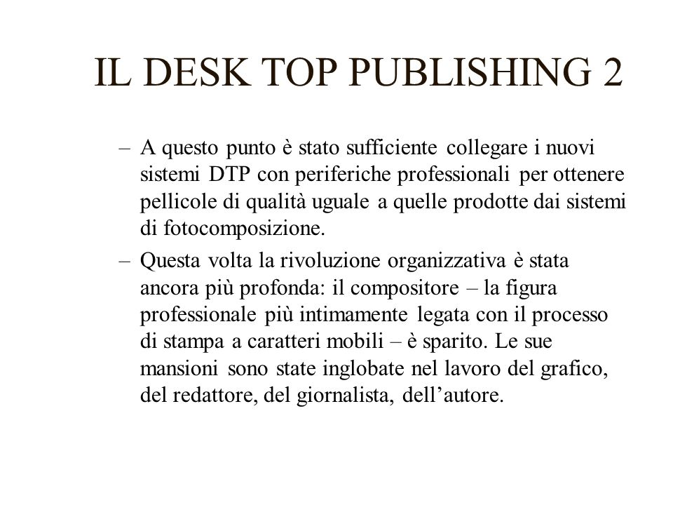 IL DESK TOP PUBLISHING 2