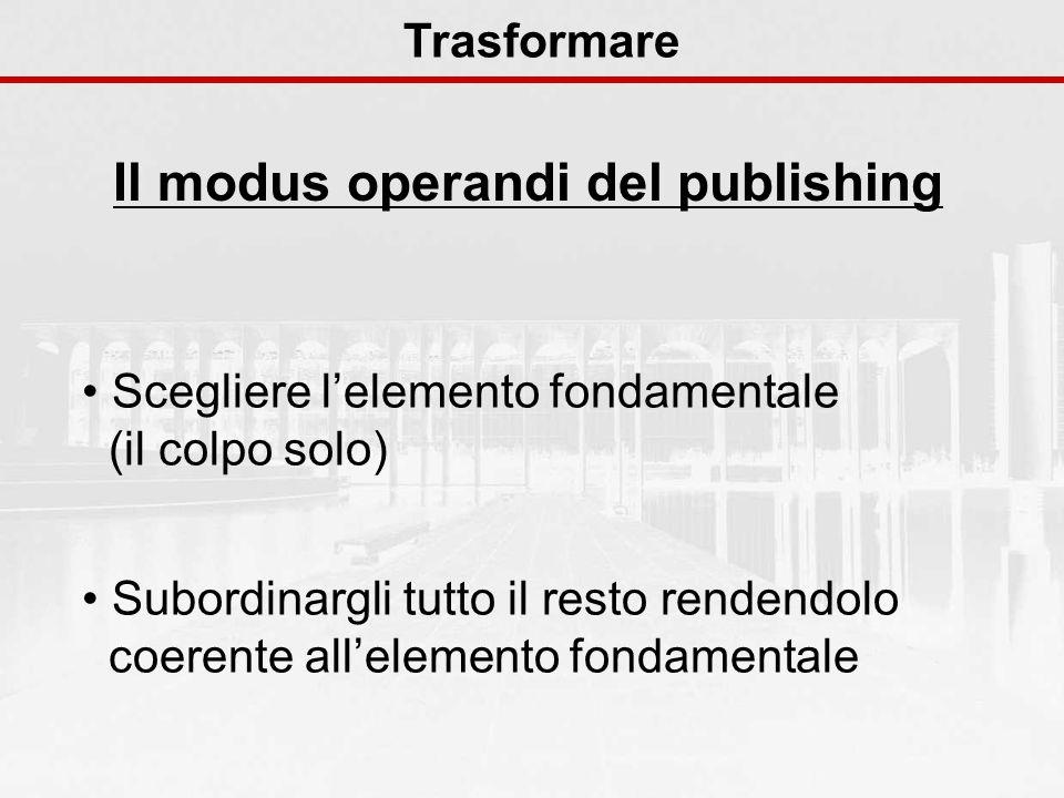 Il modus operandi del publishing