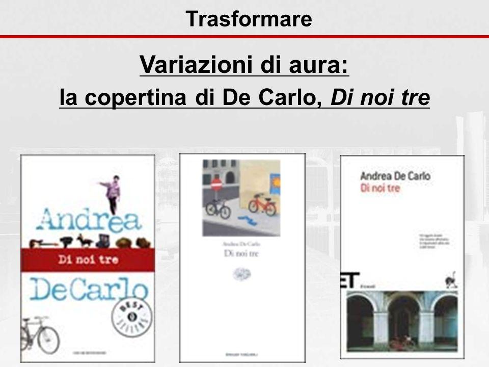 la copertina di De Carlo, Di noi tre