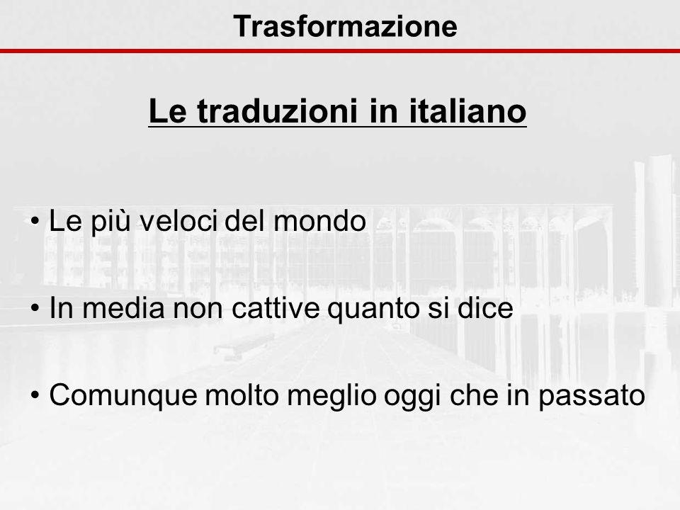 Le traduzioni in italiano