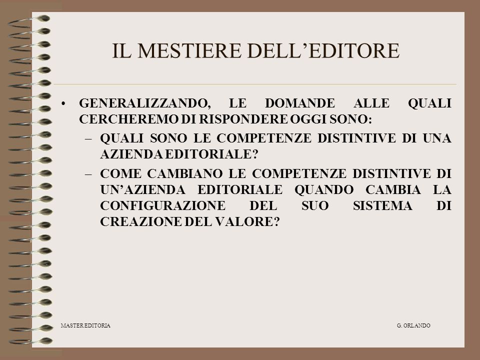 IL MESTIERE DELL'EDITORE