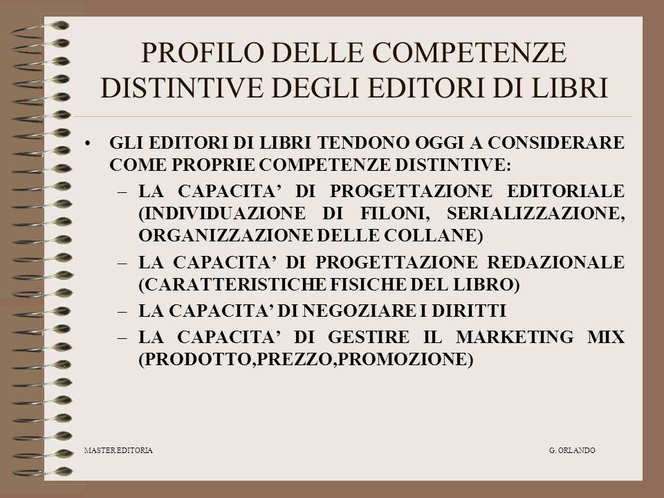 PROFILO DELLE COMPETENZE DISTINTIVE DEGLI EDITORI DI LIBRI