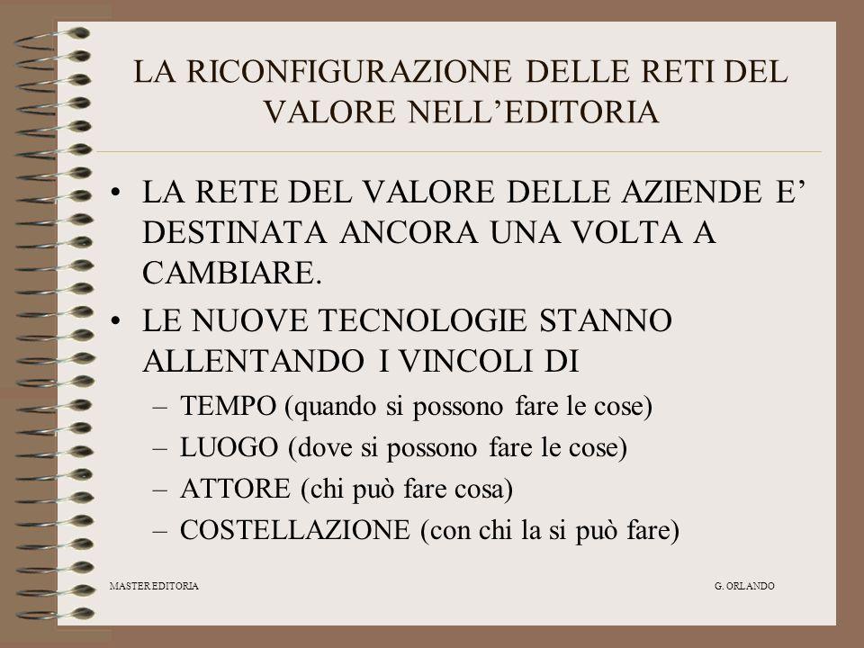 LA RICONFIGURAZIONE DELLE RETI DEL VALORE NELL'EDITORIA