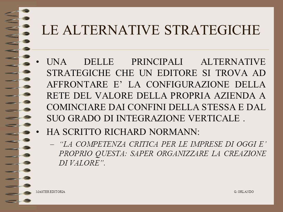 LE ALTERNATIVE STRATEGICHE