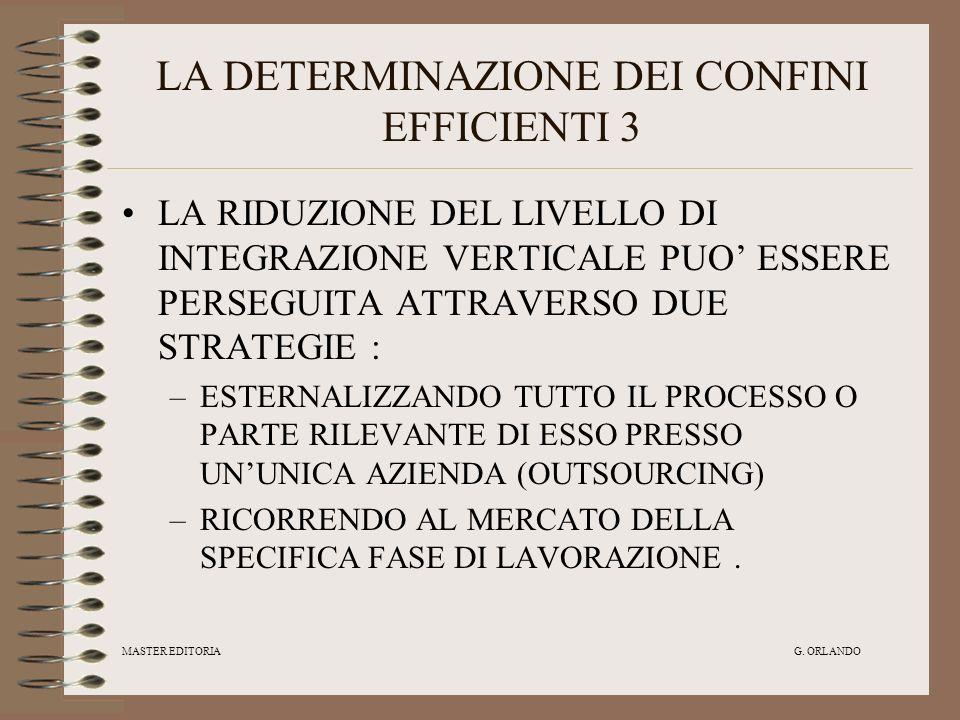 LA DETERMINAZIONE DEI CONFINI EFFICIENTI 3